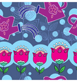 flower garden pattern vector image
