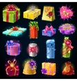Gift Boxes Icon Set vector image vector image