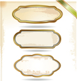 Gold frames in vintage style vector image vector image