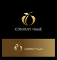 gold fruit abstract logo vector image vector image