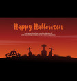 happy halloween background with pumpkin vector image vector image