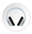 Headphones icon flat style vector image