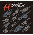Heads of the dragon vector image vector image