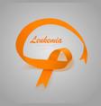 leukemia awareness calligraphy poster design vector image vector image