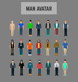 male avatar set vector image