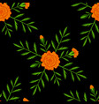 marigold seamless pattern day of the dead mexican vector image vector image