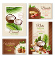 nuts poster banner set vector image vector image