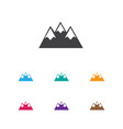 of travel symbol on peak icon vector image vector image