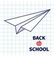 Origami paper plane Handdrawn doodle Paper sheet vector image