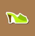paper sticker fashion footwear flip flops heels vector image vector image