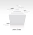 pyramid infographic template design white color vector image vector image