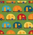retro camper van seamless pattern caravans vector image vector image