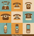 Retro Phone Icons vector image vector image