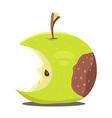 Rotten apple vector image vector image