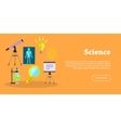 Science Banner Scientific Equipment Research vector image