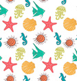 Seamless sea pattern with colorful marine vector image vector image