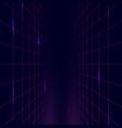 shine grid futuristic perspective architecture vector image