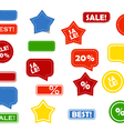 shop stickers vector image