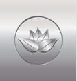 silver lotus plant icon vector image vector image
