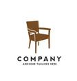 simple chair furniture logo design vector image