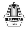 sleepwear logo simple black style vector image