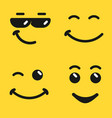 smiling face emoji vector image vector image