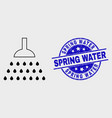 stroke shower icon and distress spring vector image vector image