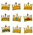 style crown elegant doodle collection vector image
