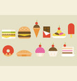 sweets and junk food icon vector image vector image