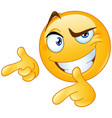 thumbs up pointing fingers emoticon vector image