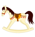 toy rocking horse vector image