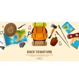 TravelHiking Background Mountain Climbing vector image vector image