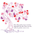 tree with lovely hearts vector image vector image