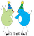 Tweet To The Beats vector image vector image