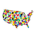 usa flag map patchwork vector image