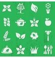 vegetarian organic food icons vector image vector image