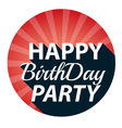 vintage happy birthday party retro vector image vector image