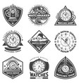 vintage watches repair service labels set vector image vector image