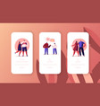 web dating and online love chat mobile app page vector image