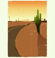 western desert road vector image