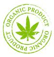 Green organic cannabis marijuana stamp vector image