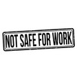 not safe for work grunge rubber stamp vector image