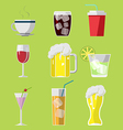 Beverage Drink Icons Symbols Set vector image