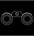 binoculars the white path icon vector image