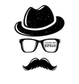 Hipster disguise set vector image