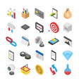 3d web icons set vector image vector image