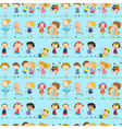 A seamless design with playful kids vector image vector image