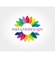 Abstract flower logo icon concept Logotype vector image