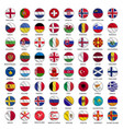 all european country flags icons circle shape vector image vector image