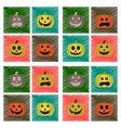 assembly flat shading style icons halloween vector image vector image